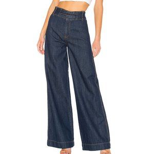 FREE PEOPLE Big Bell Wide Leg High Rise Jeans